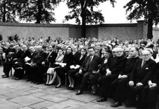 Gedenkfeier, Gedenkstätte Plötzensee, Berlin, 19.07.1955