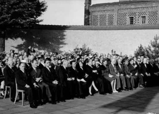Gedenkfeier, Gedenkstätte Plötzensee, Berlin, 19.07.1956