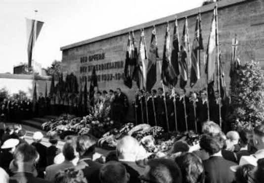 Gedenkfeier, Gedenkstätte Plötzensee, Berlin, 19.07.1958