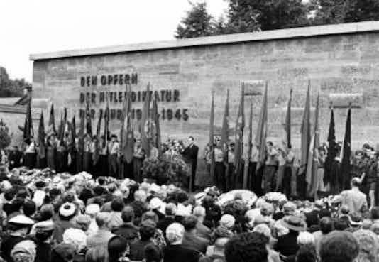 Gedenkfeier, Gedenkstätte Plötzensee, Berlin, 19.07.1959