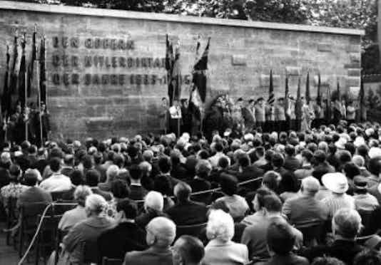 Gedenkfeier, Gedenkstätte Plötzensee, Berlin, 19.07.1961