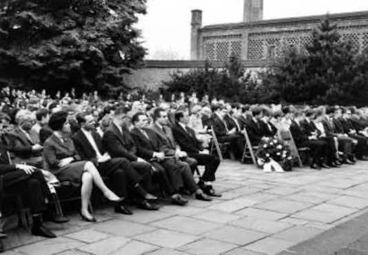 Gedenkfeier, Gedenkstätte Plötzensee, Berlin, 09.07.1964