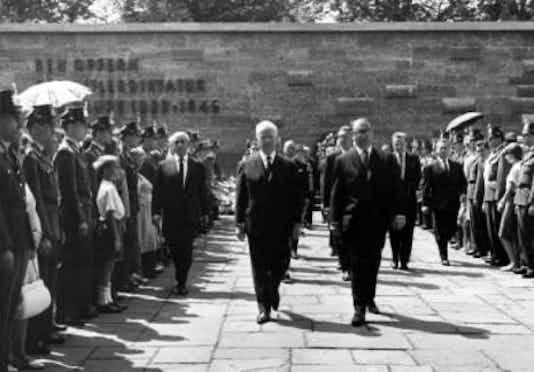 Gedenkfeier, Gedenkstätte Plötzensee, Berlin, 19.07.1964