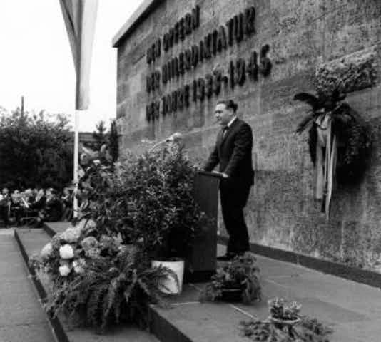 Gedenkfeier, Gedenkstätte Plötzensee, Berlin, 02.07.1965