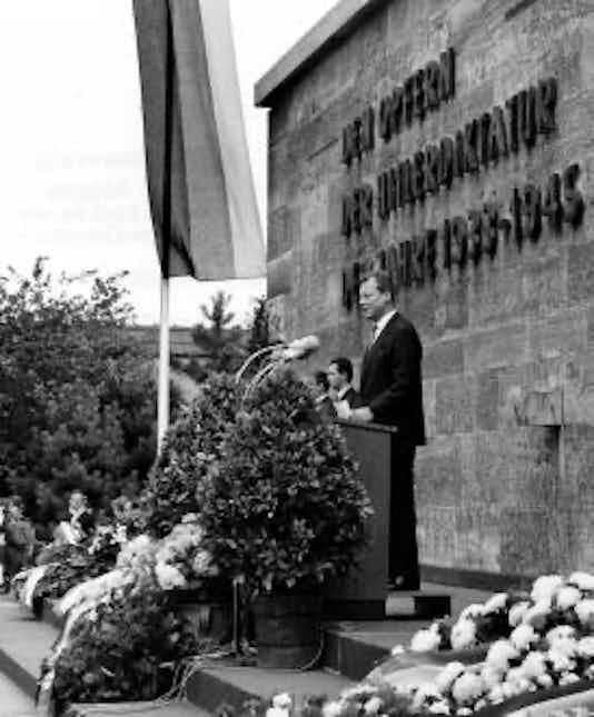 Gedenkfeier, Gedenkstätte Plötzensee, Berlin, 19.07.1965