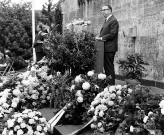 Gedenkfeier, Gedenkstätte Plötzensee, Berlin, 19.07.1966
