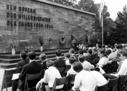 Gedenkfeier, Gedenkstätte Plötzensee, Berlin, 12.07.1967