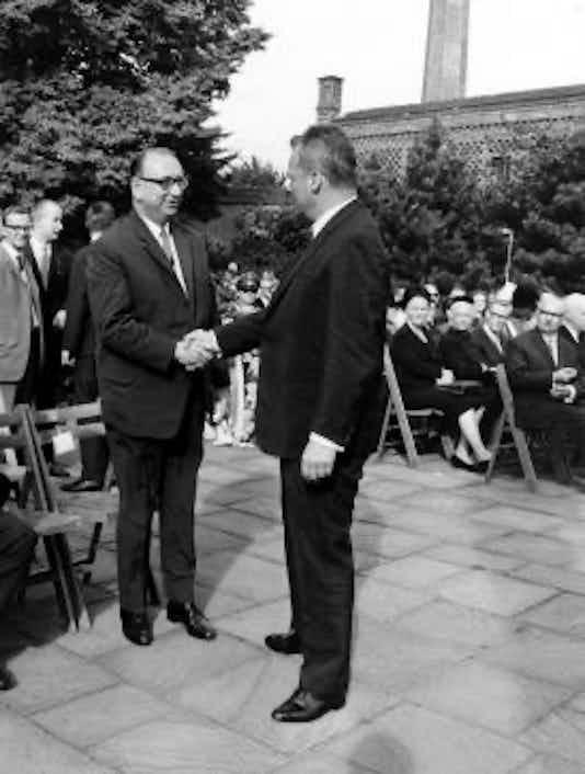Gedenkfeier, Gedenkstätte Plötzensee, Berlin, 19.07.1967