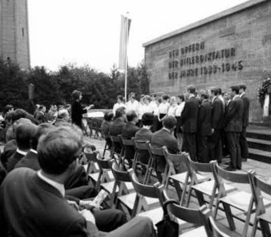 Gedenkfeier, Gedenkstätte Plötzensee, Berlin, 11.07.1968