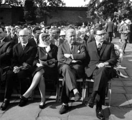 Gedenkfeier, Gedenkstätte Plötzensee, Berlin, 19.07.1968