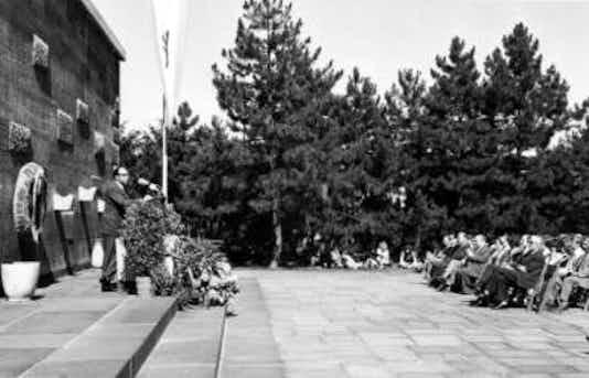 Gedenkfeier, Gedenkstätte Plötzensee, Berlin, 07.07.1971