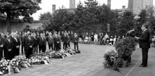 Gedenkfeier, Gedenkstätte Plötzensee, Berlin, 19.07.1971