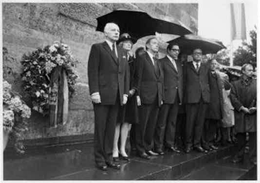 Gedenkfeier, Gedenkstätte Plötzensee, Berlin, 20.07.1974