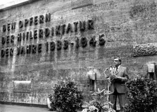 Gedenkfeier, Gedenkstätte Plötzensee, Berlin, 20.07.1976