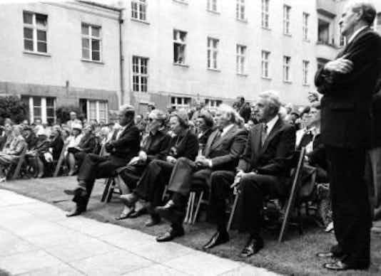Gedenkfeier, Ehrenhof der Gedenk- und Bildungsstätte Stauffenbergstraße, Berlin, 20.07.1977