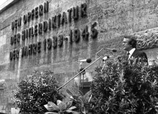 Gedenkfeier, Gedenkstätte Plötzensee, Berlin, 20.07.1977