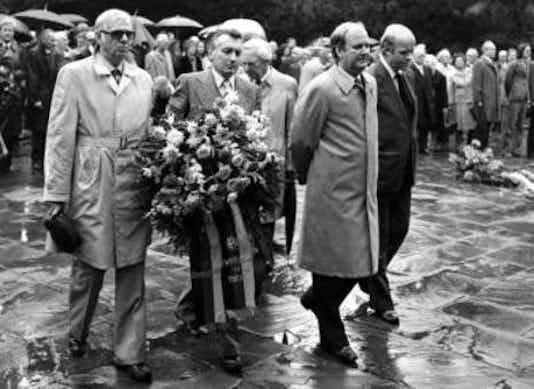 Gedenkfeier, Gedenkstätte Plötzensee, Berlin, 20.07.1978