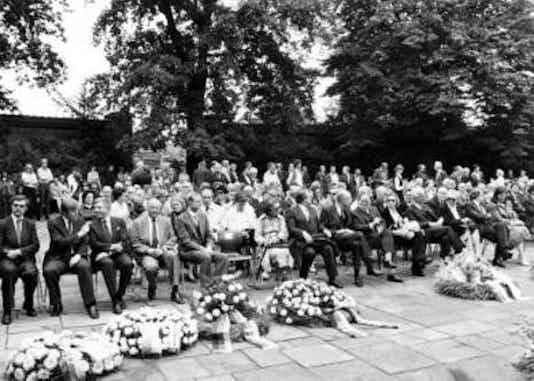 Gedenkfeier, Gedenkstätte Plötzensee, Berlin, 20.07.1980