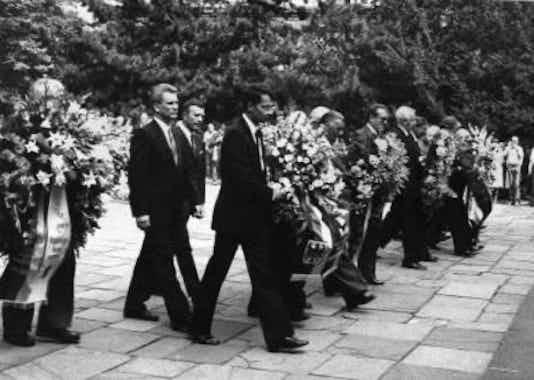 Gedenkfeier, Gedenkstätte Plötzensee, Berlin, 20.07.1982