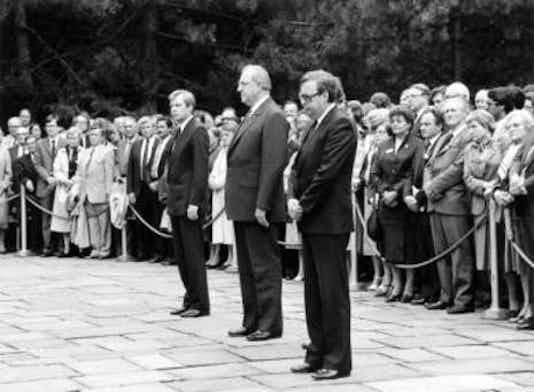 Gedenkfeier, Gedenkstätte Plötzensee, Berlin, 20.07.1984