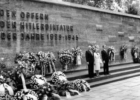 Gedenkfeier, Gedenkstätte Plötzensee, Berlin, 20.07.1986