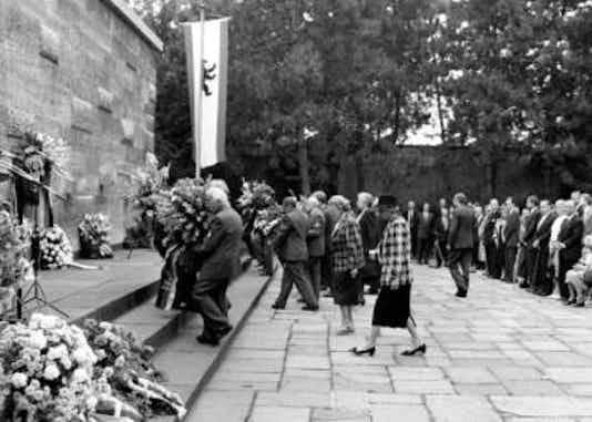 Gedenkfeier, Gedenkstätte Plötzensee, Berlin, 20.07.1987
