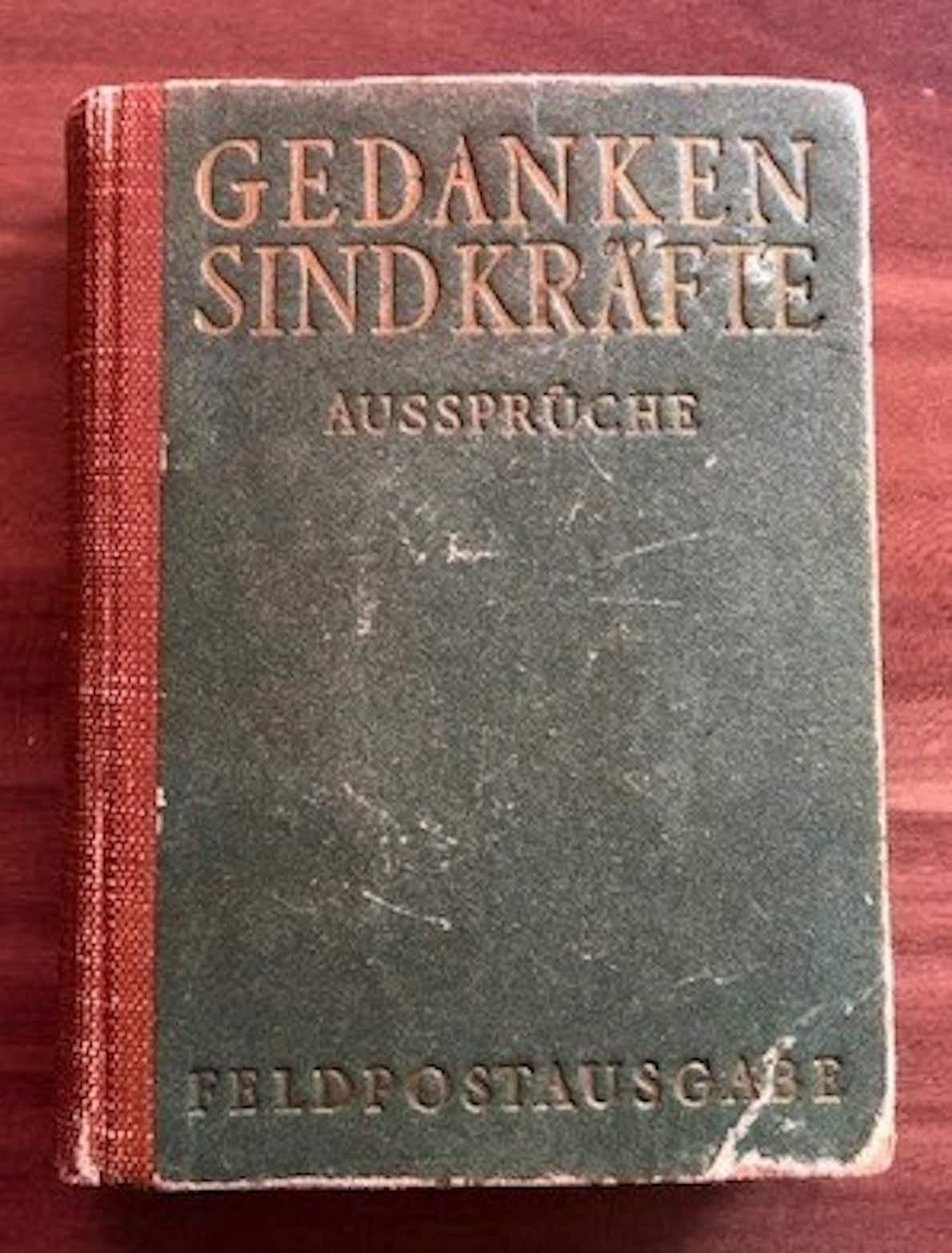 """Buchcover """"Gedanken sind Kräfte"""""""