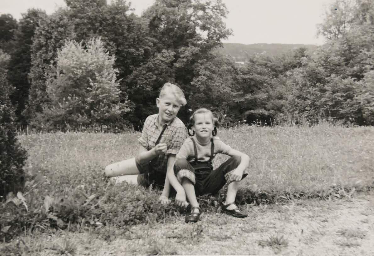 Hans-Harald von Linstow mit Schwester